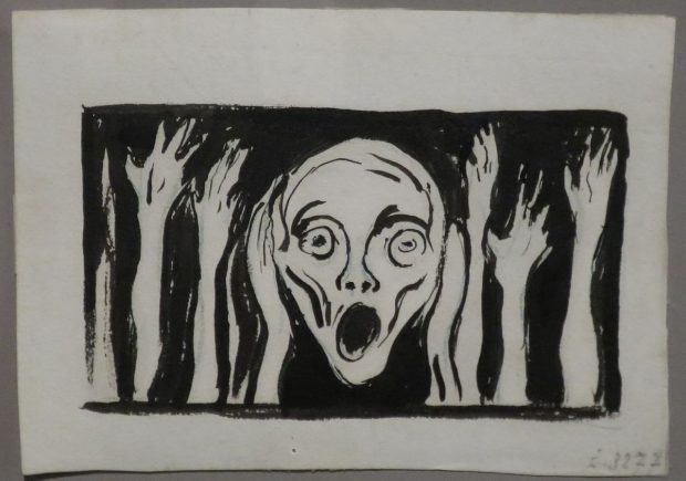 https://commons.wikimedia.org/wiki/File:%27The_Scream%27,_undated_drawing_Edvard_Munch,_Bergen_Kunstmuseum.JPG